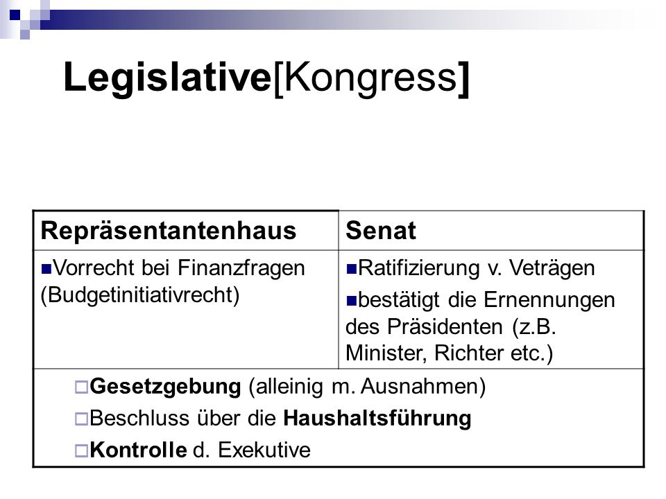 Legislative[Kongress]